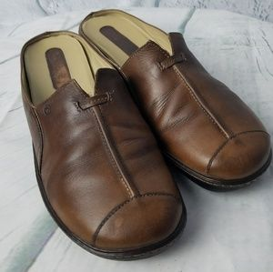 Rockport | Brown Leather Mules